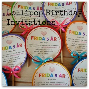 Lollipop Birthday Invitations